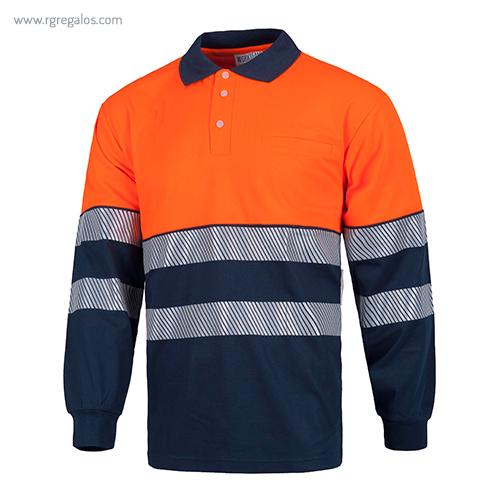 Polo alta visibilidad afelpado naranja - RG regalos publicitarios