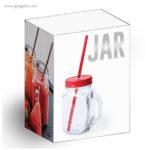 Tarro de cristal con asa caja - RG regalos publicitarios