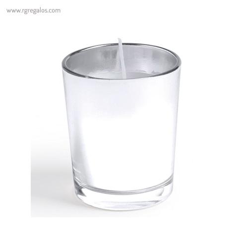 Vela aromática personalizada cristal - RG regalos publicitarios
