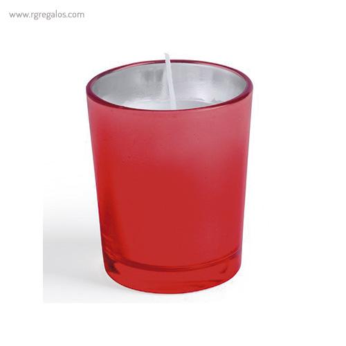 Vela aromática personalizada roja - RG regalos publicitarios