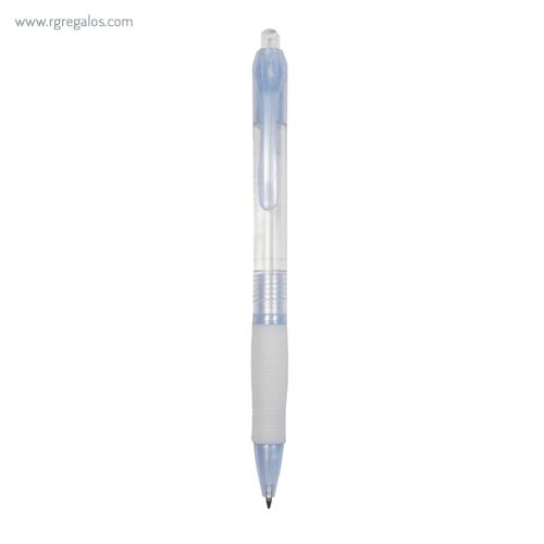 Bolígrafo publicitario translúcido blanco - RG regalos publicitarios