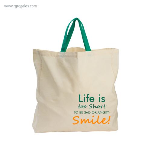 Bolsa algodón orgánico logotipo - RG regalos publicitarios