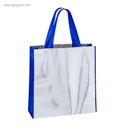 Bolsa non woven laminado asas colores azul - RG regalos publicitarios