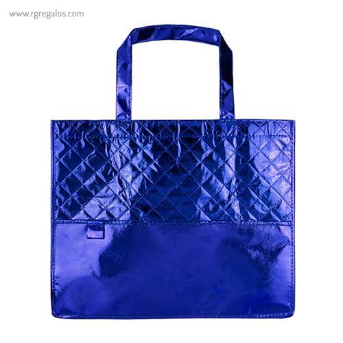 Bolsa non woven laminado azul - RG regalos publicitarios