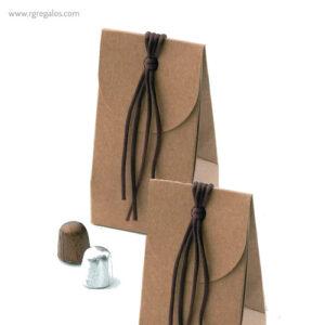 Bolsa personalizada con bombones kraft - RG regalos publicitarios