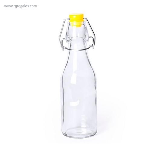 Botella de cristal 260 ml amarilla - RG regalos publicitarios