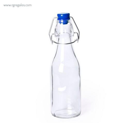 Botella de cristal 260 ml azul - RG regalos publicitarios