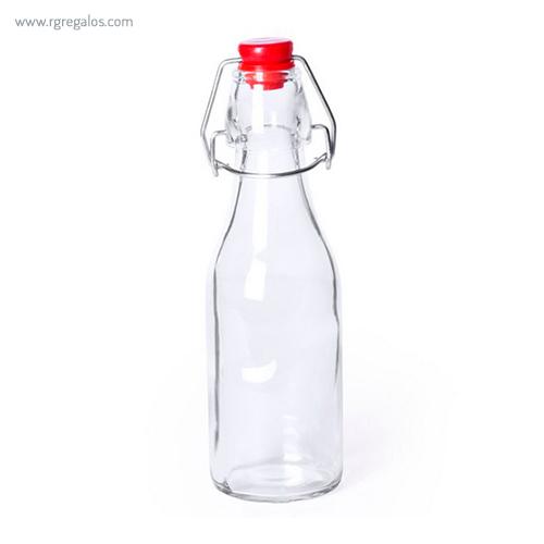 Botella de cristal 260 ml roja - RG regalos publicitarios