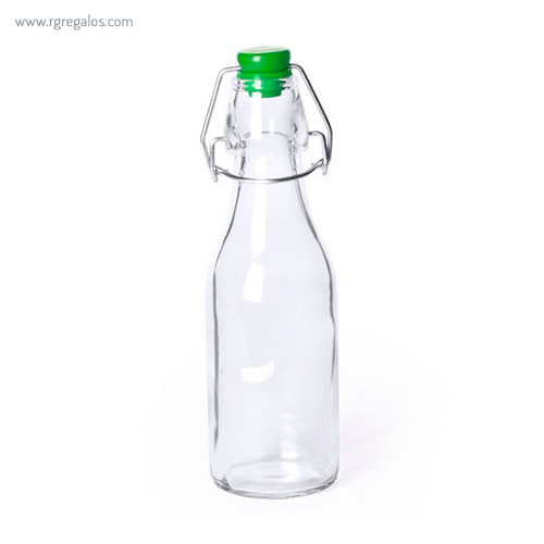 Botella de cristal 260 ml verde - RG regalos publicitarios