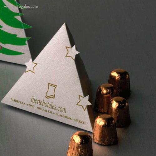 Cajas chocolates navidad árbol pequeño - RG regalos publicitarios