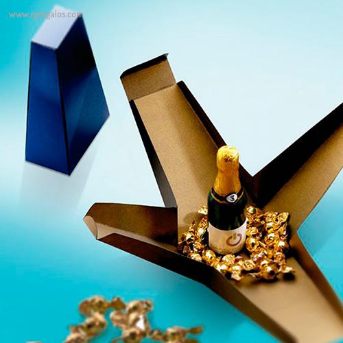 Cajas chocolates navidad botella cava - RG regalos p