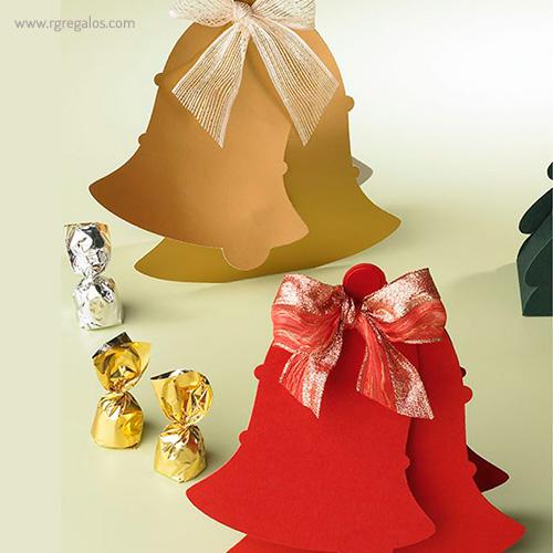 Cajas chocolates navidad campana - RG regalos publicitarios