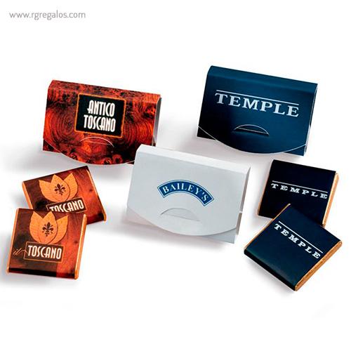 Estuche napolitanas de chocolate 2 un. - RG regalos publicitarios