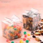 Estuche plástico con caramelos lazo - RG regalos publicitarios