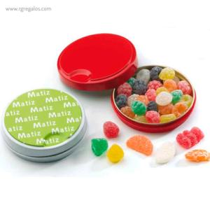 Lata con caramelos o gominolas clic-clac- RG regalos publicitarios