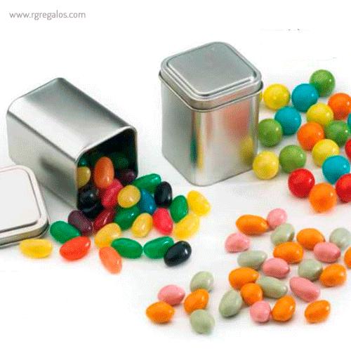 Lata con caramelos o gominolas rectabgular - RG regalos publicitarios
