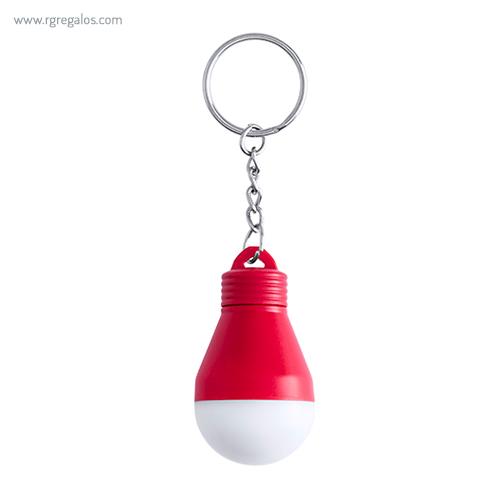 Llavero bombilla con luz rojo - RG regalos publicitarios
