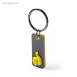 Llavero de acero inoxidable ok amarillo - RG regalos publicitarios