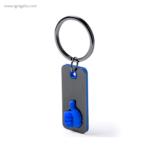 Llavero de acero inoxidable ok azul - RG regalos publicitarios