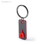 Llavero de acero inoxidable ok rojo - RG regalos publicitarios