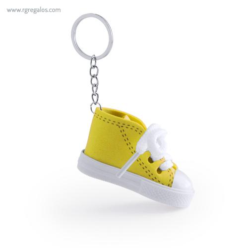Llavero en forma de bamba amarillo - RG regalos publicitarios