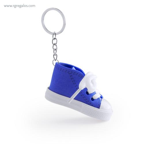 Llavero en forma de bamba azul - RG regalos publicitarios