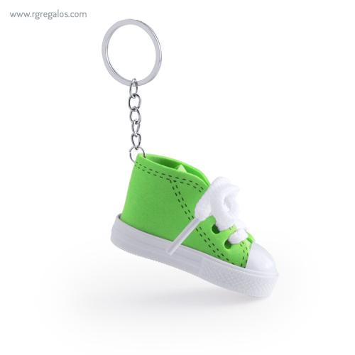 Llavero en forma de bamba verde - RG regalos publicitarios