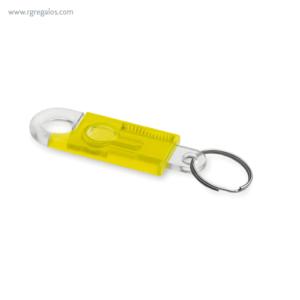 Llavero en forma de candado amarillo - RG regalos publicitarios