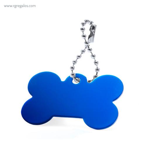 Llavero publicitario aluminio azul - RG regalos