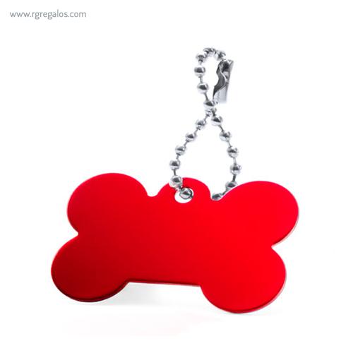 Llavero publicitario aluminio rojo - RG regalos