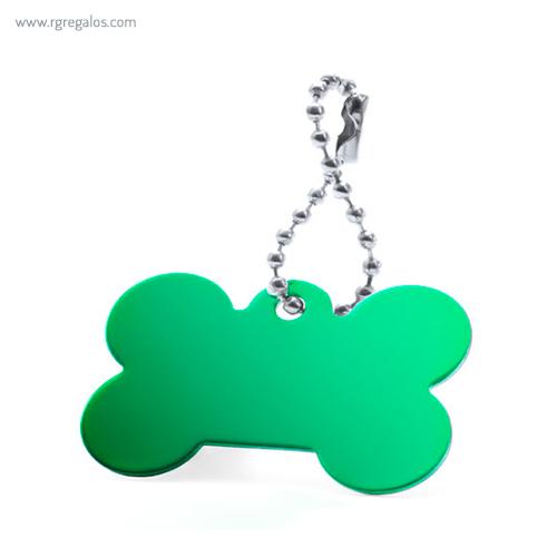 Llavero publicitario aluminio verde - RG regalos