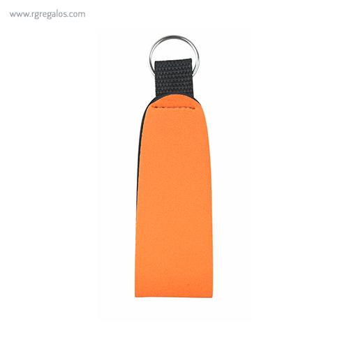 Llavero publicitario de neopreno naranja - RG regalos publicitarios