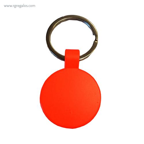 Llavero publicitario fluorescente naranja - RG regalos publicitarios