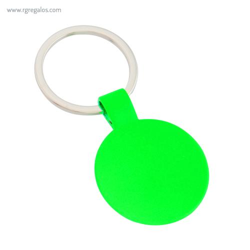 Llavero publicitario fluorescente verde - RG regalos publicitarios
