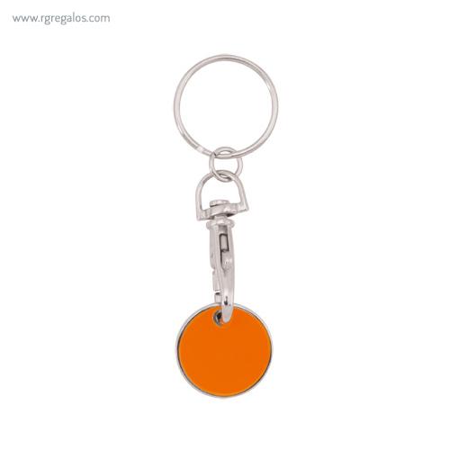 Llavero publicitario moneda naranja - RG regalos publicitarios