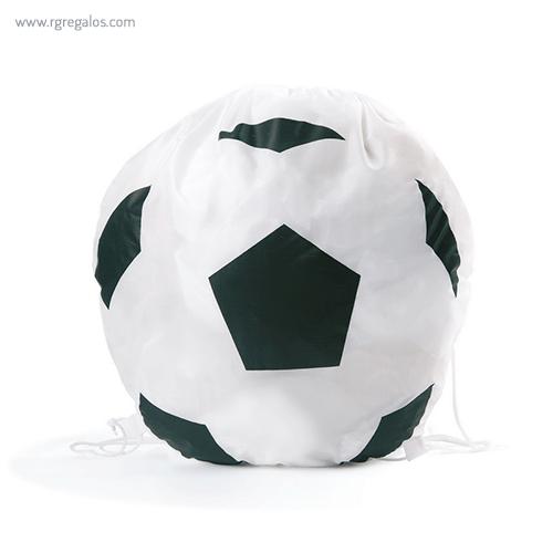 Mochila plana en forma de balón fútbol - RG regalos publicitarios