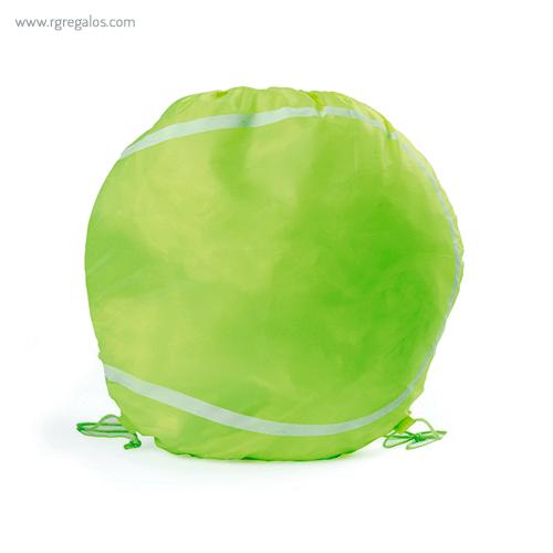 Mochila plana en forma de balón tenis - RG regalos publicitarios