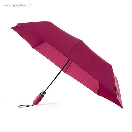 Paraguas automático plegable con funda burdeos - RG regalos publicitari