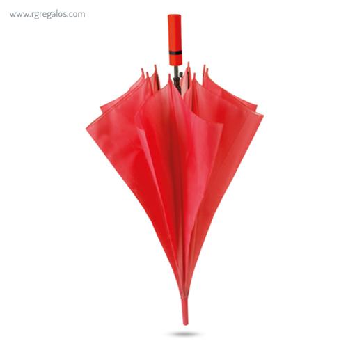 Paraguas automático mango de eva rojo - RG regalos publicitarios