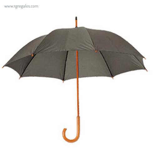 Paraguas mango y caña de madera gris - RG regalos publicitarios