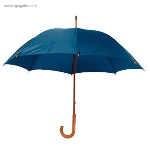 Paraguas mango y caña de madera marino - RG regalos publicitarios