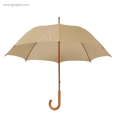 Paraguas mango y caña de madera natural - RG regalos publicitarios