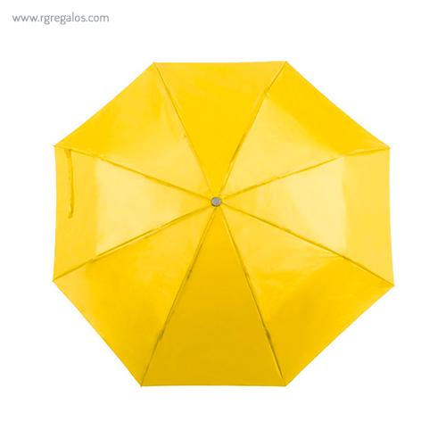 Paraguas plegable poliéster amarillo - RG regalos publicitarios