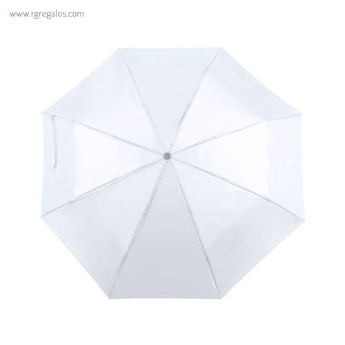 Paraguas plegable poliéster blanco - RG regalos publicitarios