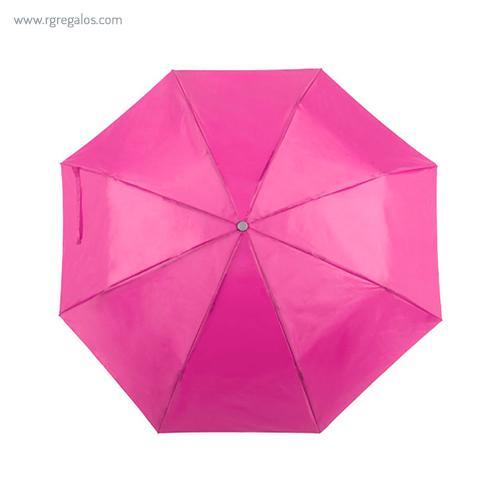 Paraguas plegable poliéster fucsia - RG regalos publicitarios