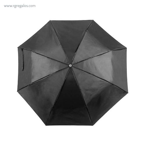 Paraguas plegable poliéster negro - RG regalos publicitarios