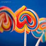 Piruletas formas especiales arco iris - RG regalos publicitarios