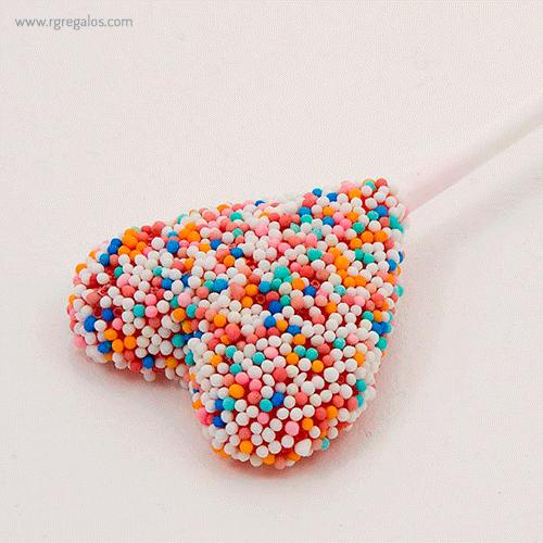 Piruletas formas especiales corazón - RG regalos publicitarios