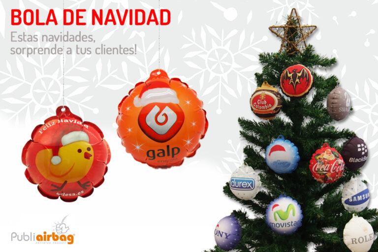 Publiairbag bola de navidad. RG regalos publicitarios