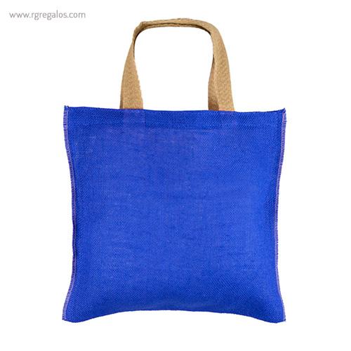 Bolsa de yute alta calidad azul - RG regalos publicitarios